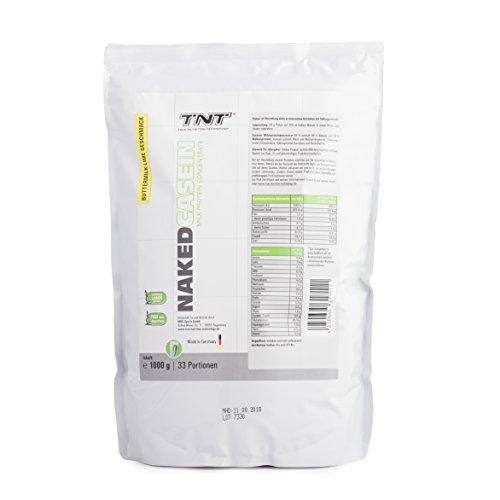 Casein-Protein von TNT | Eiweiß-Pulver mit Aminosäuren für Fitness, Sport & Bodybuilding | Protein-Shake für Muskelaufbau und Abnehmen | Naked Casein Protein-Pulver | 1kg Beutel – Buttermilk-Lime