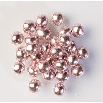 Pearlised METALLIC PINK / ROSE 6mm CRISPY PEARLS BALLS