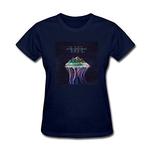kettyny mujeres como diseño de casas de las manos del algodón T Shirt