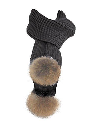 toskatok-longues-souple-charpe-acrylique-pour-femmes-avec-fausse-fourrure-garniture-pom-pom