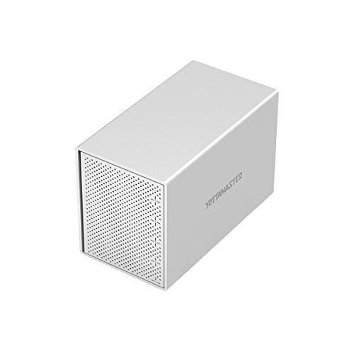 Yottamaster Aluminiumlegierung 5 Bay 3.5 Zoll USB3.1 Type C Externe Festplatte Gehäuse SATAIII Unterstützung 5 x 10TB & UASP -Silber -