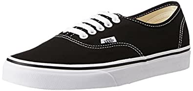Vans Unisex Authentic Black Sneakers - 11 UK/India (46 EU) (VN000EE3BLK1)