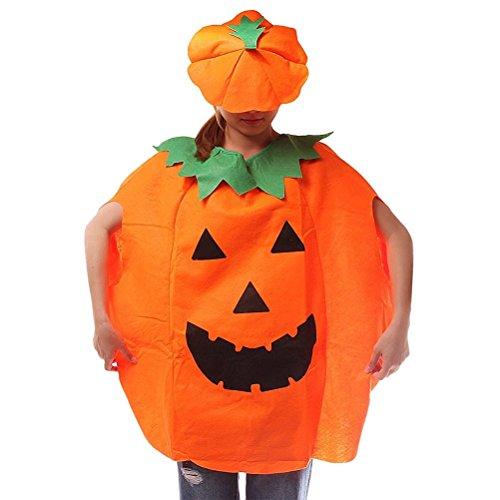 WElinks Halloween Party Dance Kleidung Halloween-Kürbisse Anzug Sets Kürbis Halloween Outfit Kleidung Halloween Kostüm-Set von Suit & Hat Kürbis Kostüm Party Cosplay Kleid bis Dekoration Adult