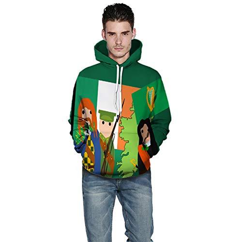Für Paare Lustig Kostüm Schwangere - URVIP Unisex Kapuzenpullover Pullover 3D Druck Weihnachtspullover Sweatjacke Hoodie Sweatshirt QZ164 XXXL