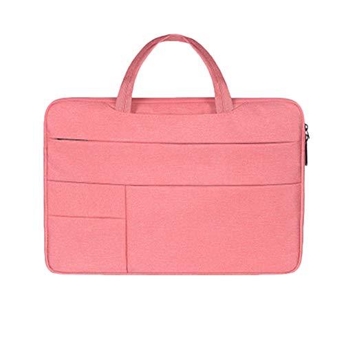 Tragbar Computer Tasche Für MacBook Multifunktional Notizbuch Ärmeltasche Geschäftsreise Wasserdicht Und Staubdicht Pink 14.1