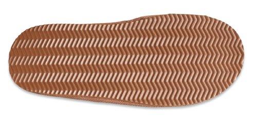 Nordvek - Pantoufles style mules - femme - daim/laine d'agneau - # 443-100 Châtain