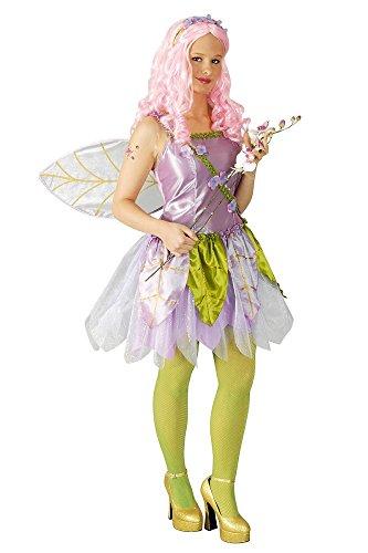 Schmetterling Feen Kostüm Violet Gr. 44 46 - Zauberhaftes Damen Kleid mit Flügeln und Haarreif