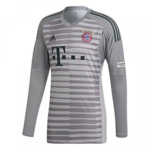 adidas Herren 18/19 FC Bayern Torwart Trikot, Grey One/Light Granite/Utility Ivy, L Preisvergleich