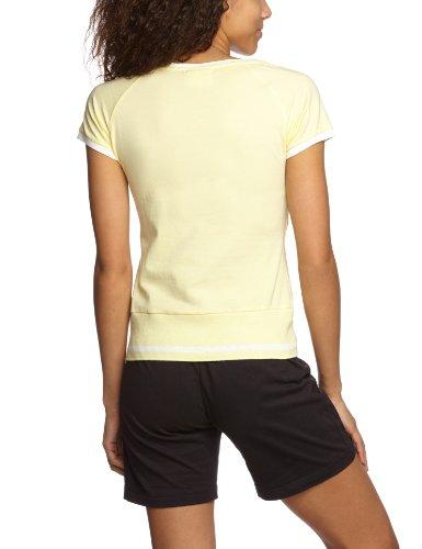 Champion T-shirt à col rond et manches courtes pour femme Jaune pâle