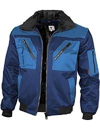 Qualitex - Chaqueta de piloto, 60% algodón, 40% poliéster, 265 g/m² aprox., con forro de piel sintética y mangas separables