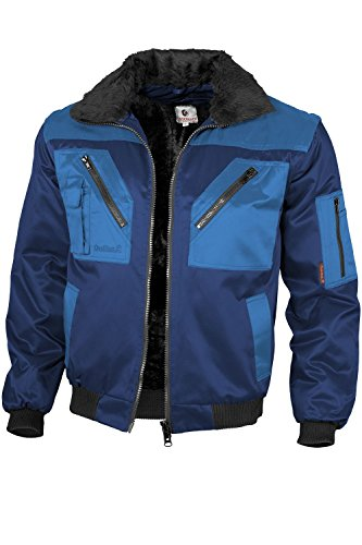 Qualitex - Pilotenjacke 4 in 1, Marine/Royal , XL