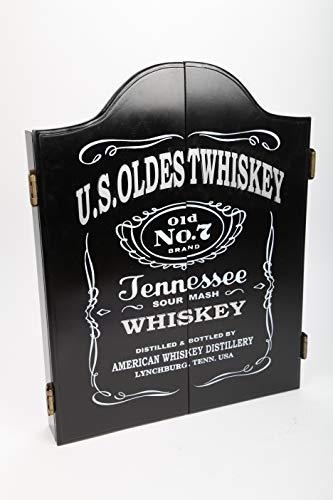 point home Dartschrank U.S. Oldest Whiskey, Dartscheibe im Retrolook, 64cm