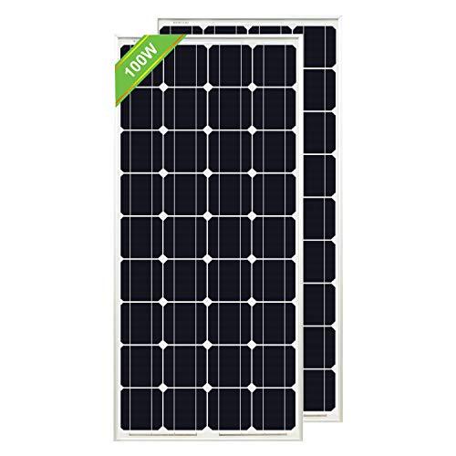 ECO-WORTHY 200W Solarpanel 2pc 100W 12V monokristallines Photovoltaik-PV-Modul zum Laden von 12V-Batterien in Wohnwagen, Wohnmobilen, Booten, Yachten