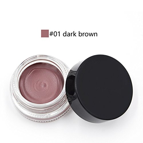 OYOTRIC Professional 5 Color Pigment Brown Eyebrow Gel With Brush Waterproof Eyebrow Tint Eyebrow Pencil Makeup Tool Kit (A1)