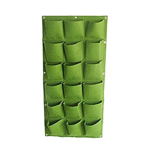 Zerama Vertikale Blumenpflanzkissen 18 Slots Belüften Wandbehang Wachstum Pouch Home Office Shop-Wand-Dekor