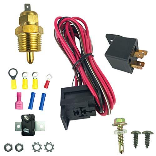 Morza 175-185 Grad Farenheight Motorkühlung Lüfter Thermostat Temp Schalter Sensor 4pins Relay Kit -