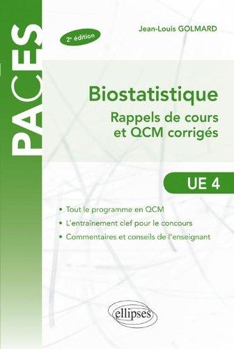 Biostatistique Rappels de Cours & Exercices Corrigés Ue4