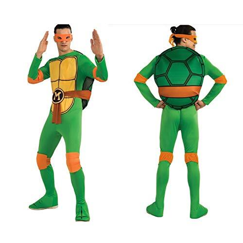 ZSDFGH Ninja Turtles Kostim Frau/Ninja Turtles Kostim Erwachsene/Ninja Turtles Kostüm/Karneval Kostüm,Orange-L
