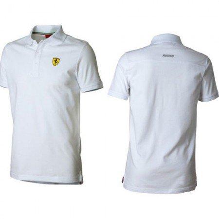 FERRARI Classic Shield Poloshirt, Herren, weiß, X-Large