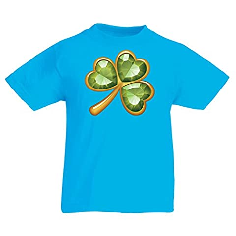 Kinder T-Shirt Irish shamrock St Patricks day clothing (3-4 years