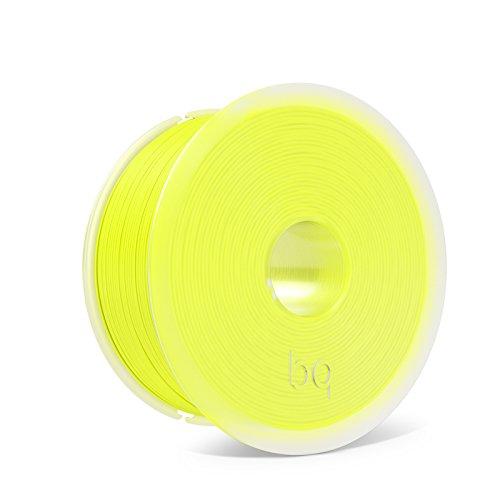 BQ Easy Go - Filamento de 1.75 mm (100 % PLA, resistente a la acetona, rápido endurecimiento), color amarillo fluorescente