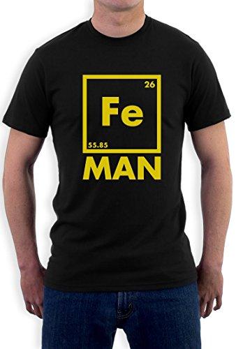 Iron Fe Man - Lustiges Männergeschenk T-Shirt Schwarz