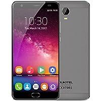 """Smartphone Libre 4G Android 7.0, OUKITEL K6000 PLUS Teléfonos Móviles Libres con 6080mAh Grande Batería (16MP+8MP Cámara, 4Gb RAM+64GB ROM, 5.5"""" FHD Pantalla, 1080 x 1920 Resolución, MT6750T Octa Core 1.5GHz, Dual Sim, Identificación de Huellas, Inteligente Gesto) - Gris"""