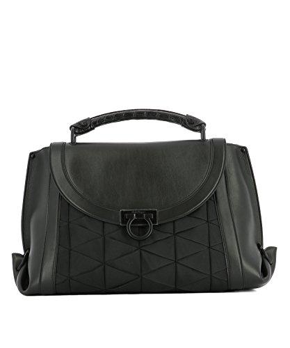 Salvatore-Ferragamo-Womens-0666780-Black-Leather-Handbag