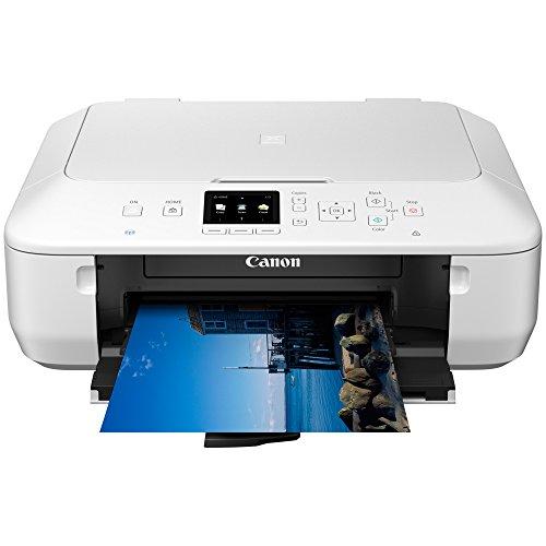 Canon Pixma MG5650 Multifunktionsgerät (Drucker, Kopierer, Scanner, USB, WLAN, Pixma Cloud-Link) weiß