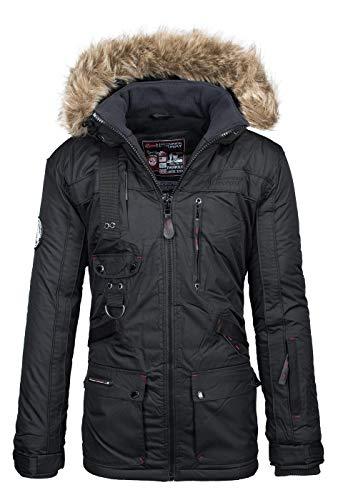 Geographical Norway Chaqueta Exterior Hombre Chaqueta de Invierno Negro, tamaño:XXL