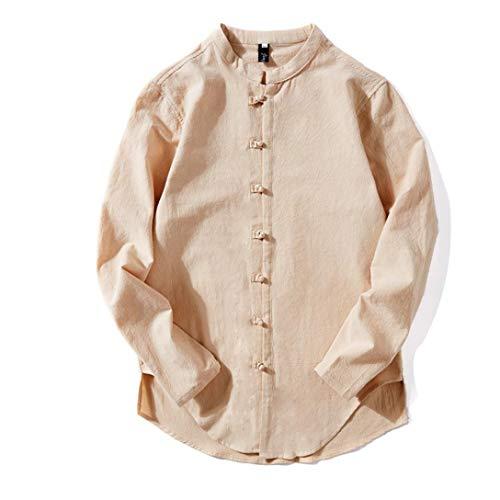 Zycshang abbigliamento uomo camicie classiche, camicia uomo lino collo coreano,camicia uomo coreana,camicia uomo eleganti,m, l, xl, xxl, 3xl,4xl,5xl,camicie classiche
