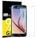 NEW'C Lot de 3, Verre Trempé pour Samsung Galaxy S6, Film Protection écran - Anti Rayures - sans Bulles d'air -Ultra Résistant (0,33mm HD Ultra Transparent) Dureté 9H Glass