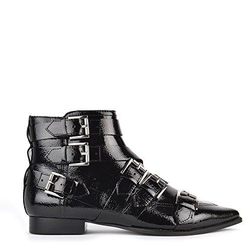 Ash Footwear Blast Boots a Talons en Cuir Noir Femme