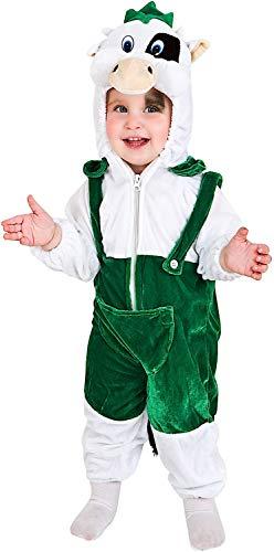 Costume di Carnevale da Mucca Carlotta Vestito per Neonato Bambino 1-4 Anni Travestimento Veneziano Halloween Cosplay Festa Party 60798 Taglia 2