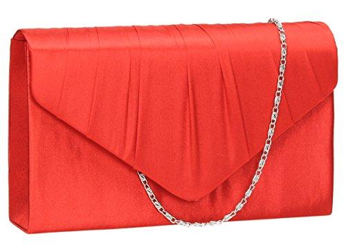 SwankySwans, Poschette giorno donna argento Silver Red