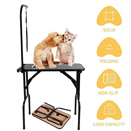 Generic Acit Noose Arm ity Table Loop Arm Capaci Adjustable Folding Pet G T Capacity E Pet Dog Gr Dog Grooming Loop Table