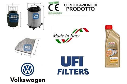 Preisvergleich Produktbild Kit 3Filter UFI VW Passat (362,365) 1.4TSI 90kW + 4L CASTROL EDGE 5W30