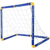 Lommer But de Foot, Enfant Cage de Foot Mini But de Football Goal Football Cage Football avec Balle pour Enfants Intérieur/Extérieur,90 * 60 * 47CM