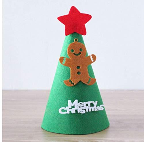 ganjue DIY Filz Ornament Weihnachten Hut Santa Cap Schneemann Weihnachten Form Für Kinder Erwachsene Ornamente Caps Party Baum Decor