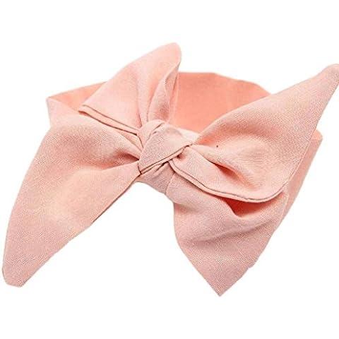 Diademas para bebé Sannysis Conejo arco Hairband, Venda de la flor (Naranja)