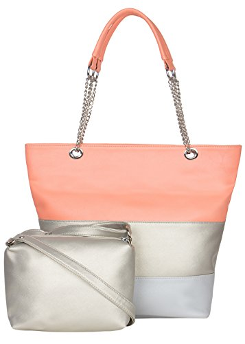ADISA AD3016 peach women handbag with sling bag combo
