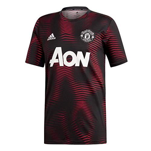 adidas Performance Manchester United Pre-Match T-Shirt Herren schwarz/rot, S
