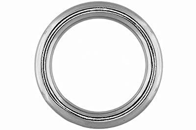 Ring, geschweißt und poliert, 10mm, 50mm