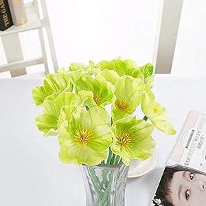 Flores Artificiales Plantas Falsas 15 Piezas Flor De Amapola Artificial Flores Falsas Paño Flores Artificiales Ramo De…