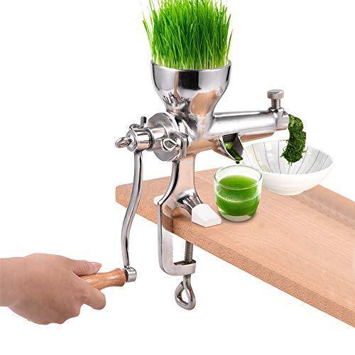 Asixx Weizengras Saftpresse, Manuelle Weizengras Entsafter aus 304 Edelstahl mit Montageklemme für Gras, Obst, Gemüse usw, 30 x 21 cm