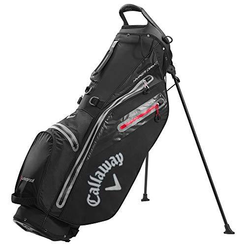Callaway Golf Hyper Dry C Stand Bag anthrazit, Schwarz/Dunkelgrau/Rot, Einheitsgröße