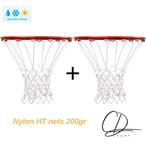 CDsport, Coppia Reti da Basket per Canestro, Nylon HT 200gr qualità Premium