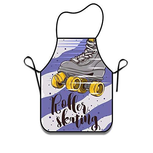 Eastlif Maschinenwaschbar Langlebig Rollschuh String Schürze für Frauen & Männer BBQ, Kochen, Arbeiten, Grillen, Backen, Basteln