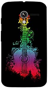 Timpax Slip-resistant, stain-resistant and tear-resistant Hard Back Case Cover Printed Design : Rainbow and a guitar.Specifically Design For : Motorola Moto-X ( 1st Gen )