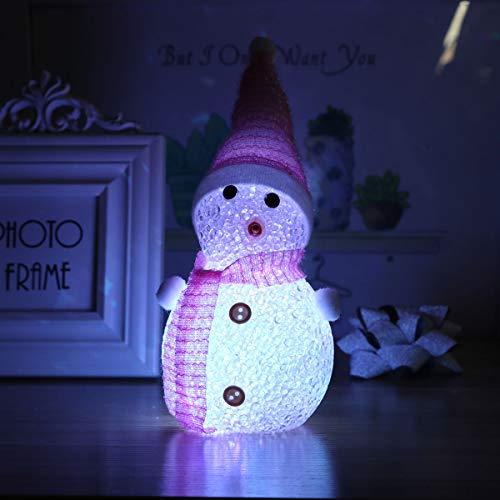 ffa25e1eb4131 STOBOK 19cm noël éclairage Bonhomme de Neige Ornements Cadeaux Enfants  Jouets Cadeaux Cadeaux de Vacances Table